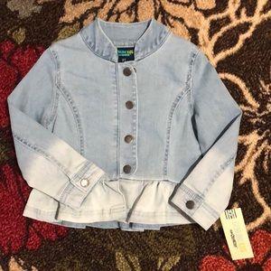 Genuine Kids / OshKosh Denim Ruffle Jacket 3T